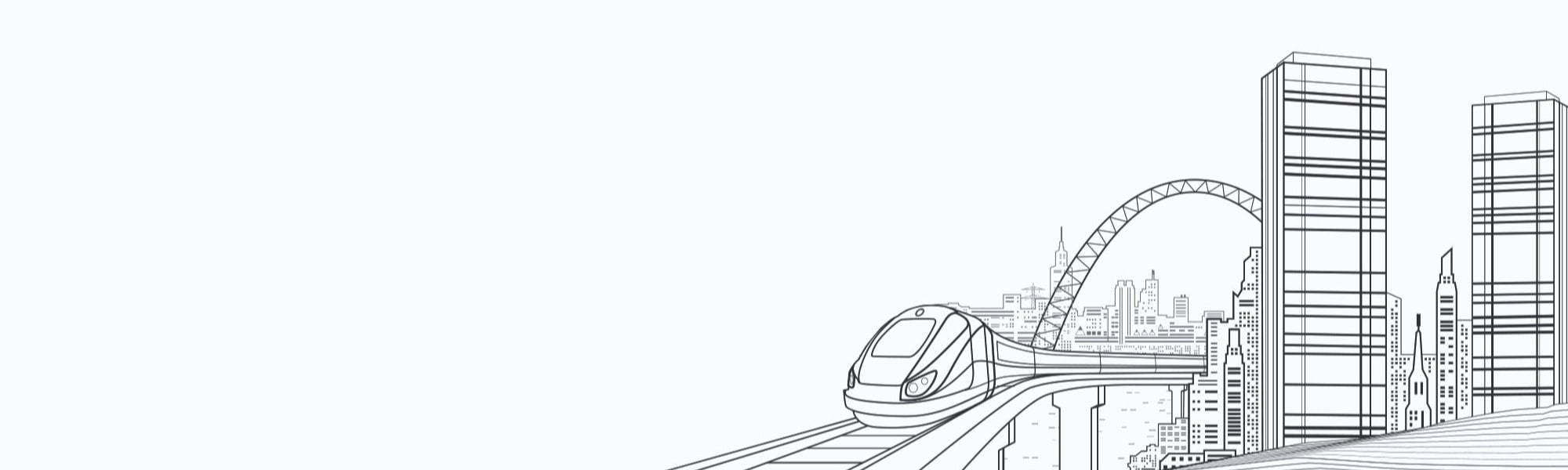 Banner Image of cityscape line drawing